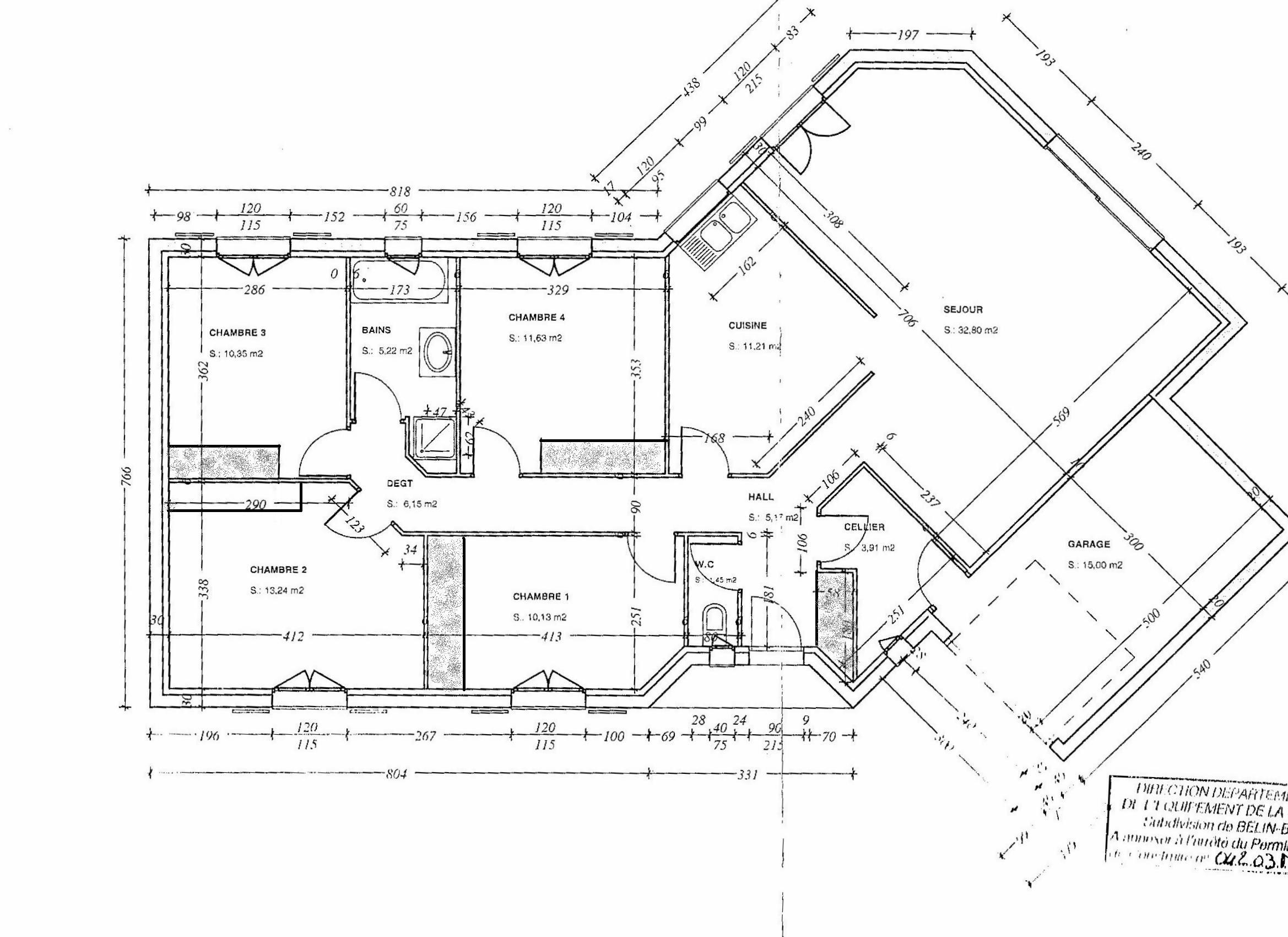Plan et description de la maison maison vendre for Maison et plan